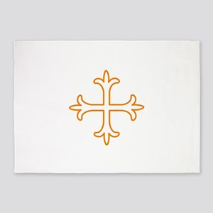 Cross outline 5'x7'Area Rug