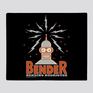 Bender Rodriguez Full Bleed Throw Blanket