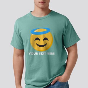 Halo Emoji Personalized Mens Comfort Colors Shirt