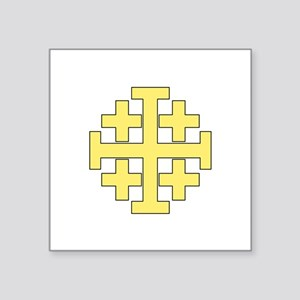 Jerusalem Cross Sticker