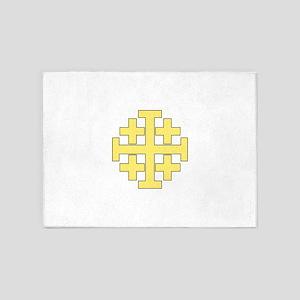 Jerusalem Cross 5'x7'Area Rug