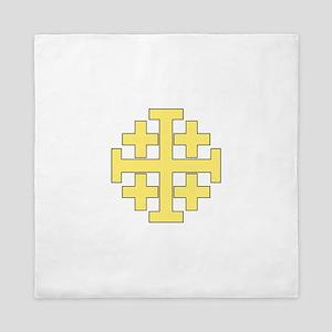 Jerusalem Cross Queen Duvet