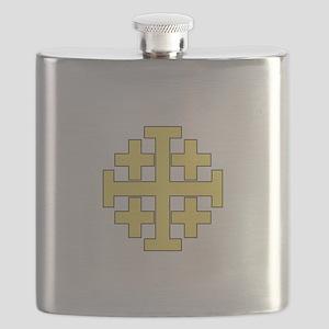 Jerusalem Cross Flask