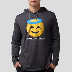 Halo Emoji Personalized Mens Hooded Shirt