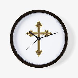 Ornamental Cross Wall Clock