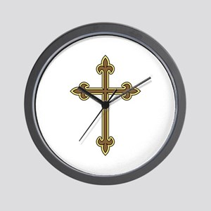 Ornamental Cross Wall Clock