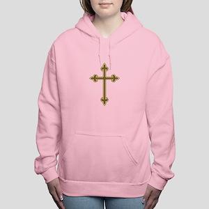 Ornamental Cross Women's Hooded Sweatshirt