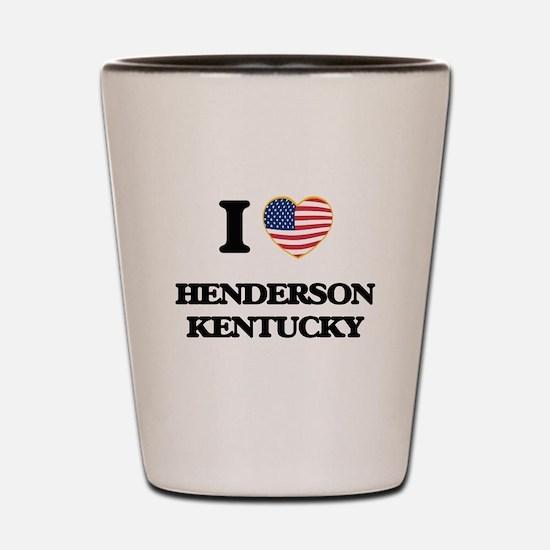 I love Henderson Kentucky Shot Glass