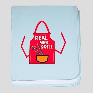 Real Men Grill baby blanket