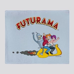Futurama Scooter Full Bleed Throw Blanket