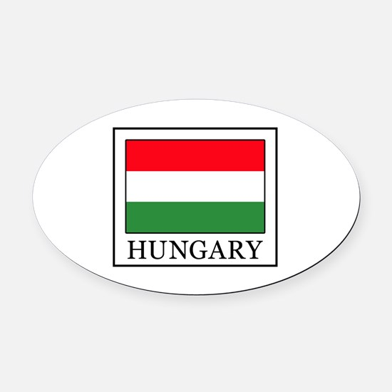 Hungary Oval Car Magnet