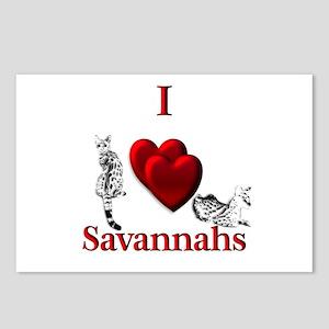 I Heart Savannahs Postcards (Package of 8)