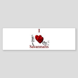 I Heart Savannahs Bumper Sticker