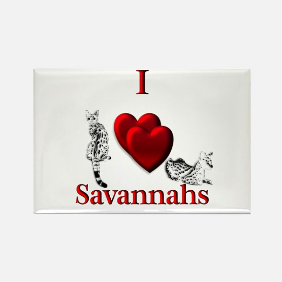 I Heart Savannahs Magnets