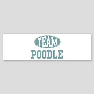 Team Poodle Bumper Sticker