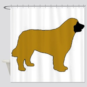 leonberger color silhouette Shower Curtain
