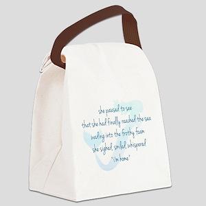 Mermaid Watercolor Canvas Lunch Bag