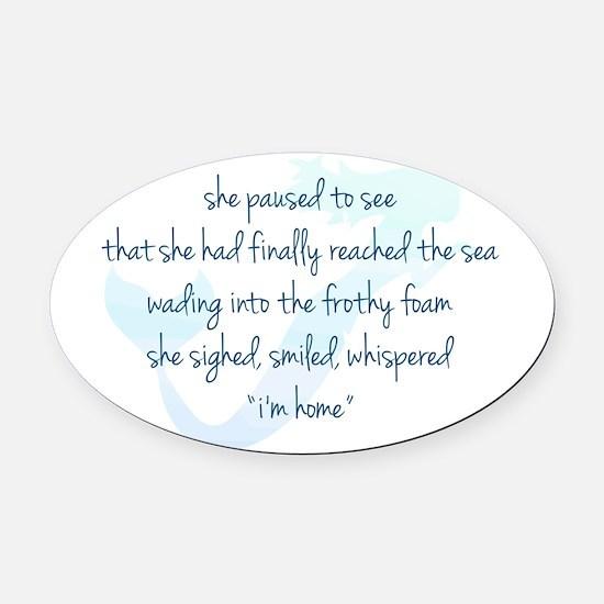 Mermaid Watercolor Oval Car Magnet