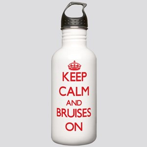 Keep Calm and Bruises Stainless Water Bottle 1.0L