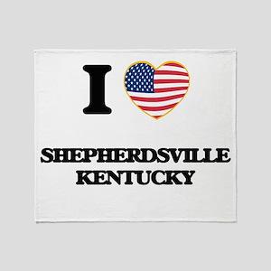 I love Shepherdsville Kentucky Throw Blanket