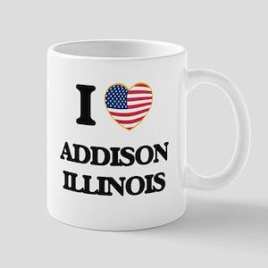 I love Addison Illinois Mugs