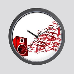 Fly away with the music Wall Clock