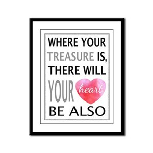 Treasure Your Heart Framed Panel Print