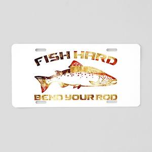 SALMON FISHING Aluminum License Plate