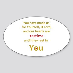 Restless Heart Sticker (Oval)