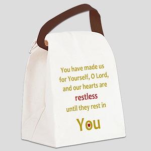 Restless Heart Canvas Lunch Bag
