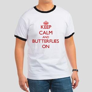Keep Calm and Butterflies ON T-Shirt