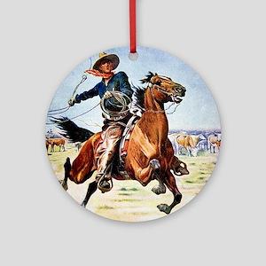 cowboy art Round Ornament