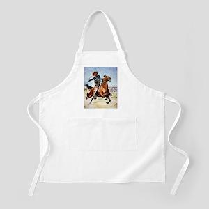 cowboy art Apron