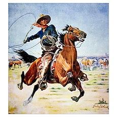 cowboy art Poster
