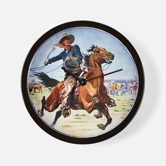 cowboy art Wall Clock