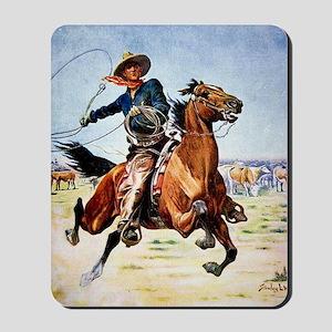 cowboy art Mousepad