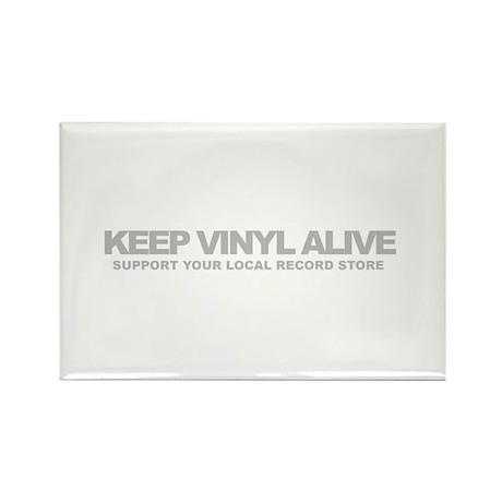 Keep Vinyl Alive Rectangle Magnet (10 pack)