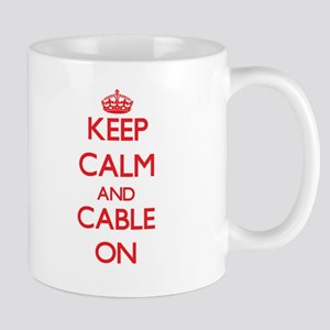 Keep Calm and Cable ON Mugs