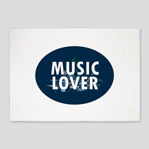Music Lover 5'x7'Area Rug