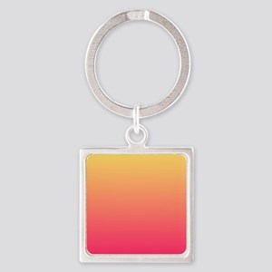 Fuchsia yellow ombre Keychains
