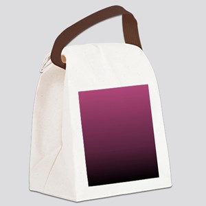 modern burgundy ombre Canvas Lunch Bag
