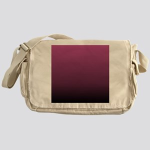 modern burgundy ombre Messenger Bag