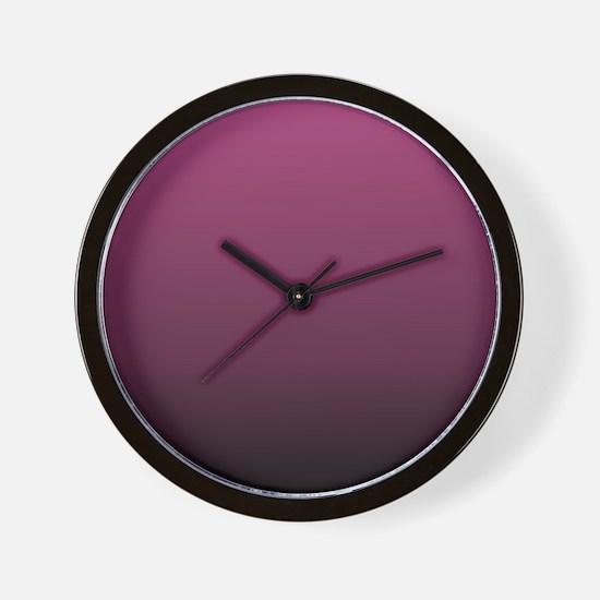 modern burgundy ombre Wall Clock