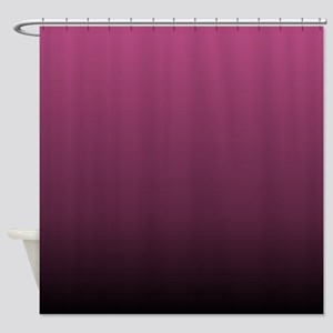 Modern Burgundy Ombre Shower Curtain