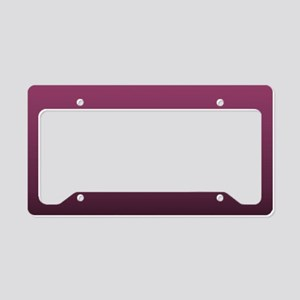 modern burgundy ombre License Plate Holder