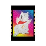 Happy Angel Rectangle Magnet (100 pack)