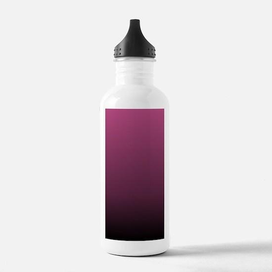 modern burgundy ombre Water Bottle