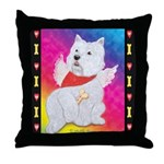 Happy Angel Throw Pillow