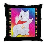 Happy Angel Throw Pillow