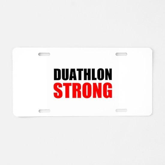 Duathlon Strong Aluminum License Plate